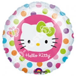 Круг Hello Kitty в горошек 18